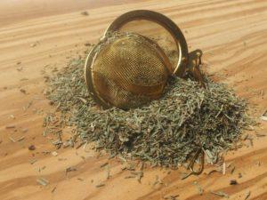 Te af tørret padderokke