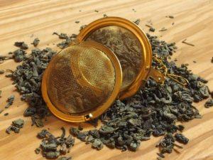 Kinesisk Gunpowder, økologisk. Smagen fra gunpowder er kraftfuld og let sødlig.
