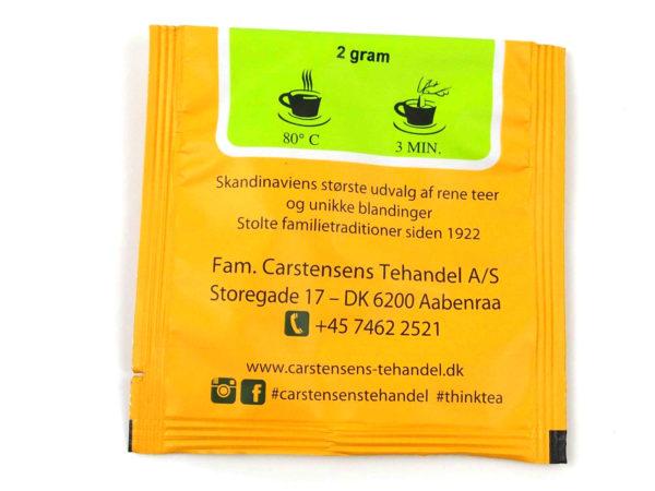 Tebrev med Solens Rige til undervejs eller bare til en enkelt god kop te. Grønne grund teer fra Japan. Tilsat ris, poppede ris, kandiseret ananas og naturlig aroma