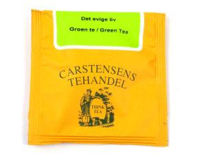 Tebrev med Det Evige Liv te til undervejs eller bare til en enkelt god kop te. Grøn te fra Kina. En af vore mange favoritter. En blanding bestående af grøn Sencha, ming mee, pai mu tan, gunpowder, grøn china wu lu, Jasminblomster, Ribs, solbær og aroma.