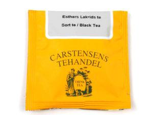 Tebrev med Esthers Lakridste til undervejs eller bare til en enkelt god kop te.