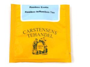 Tebrev med Rooibos Exotic til undervejs eller bare til en enkelt god kop te.