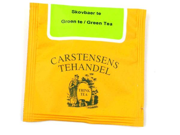 Tebrev med Grøn Skovbær te til undervejs eller bare til en enkelt god kop te.