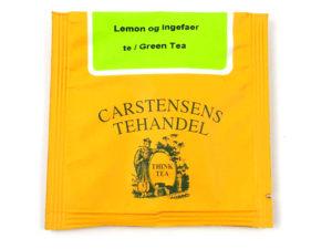 Tebrev med Grøn Lemon og Ingefær te til undervejs eller bare til en enkelt god kop te.