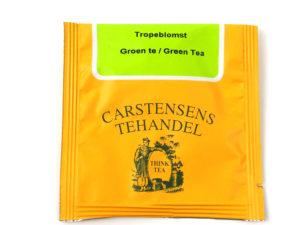 Tebrev med Grøn Tropeblomst te til undervejs eller bare til en enkelt god kop te.