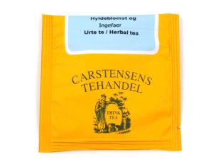 Tebrev med Hyldeblomst og Ingefær til undervejs eller bare til en enkelt god kop te.