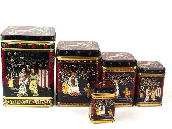 Tedåse med kinesisk motiv-100 gram te kinesisk
