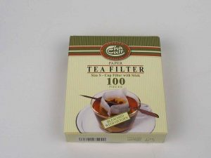 Engangs tefilter med pind. Pakke indeholder 100 poser og 1 pind. Flere pinde kan tilkøbes