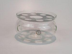tevarmer i glas til fyrfadslys.