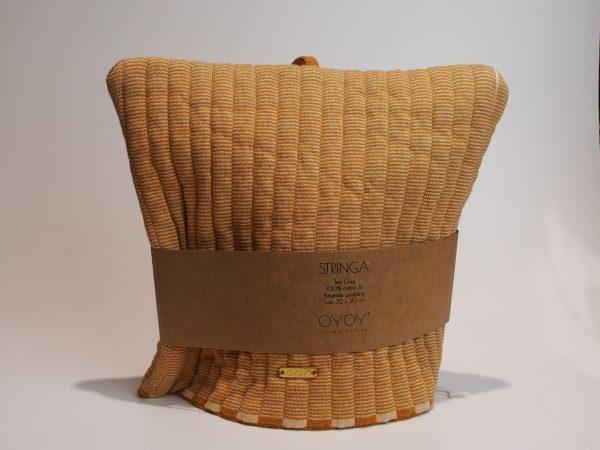Stringa tehætte i karamel og rosa farve. Denne flotte tehætte fra Oyoy er et must i hjemmet. Tehætten er i glat strik. Materiale: 100% økologisk bomuld Farve: karamel og rosa Mål: H30 x B32 cm